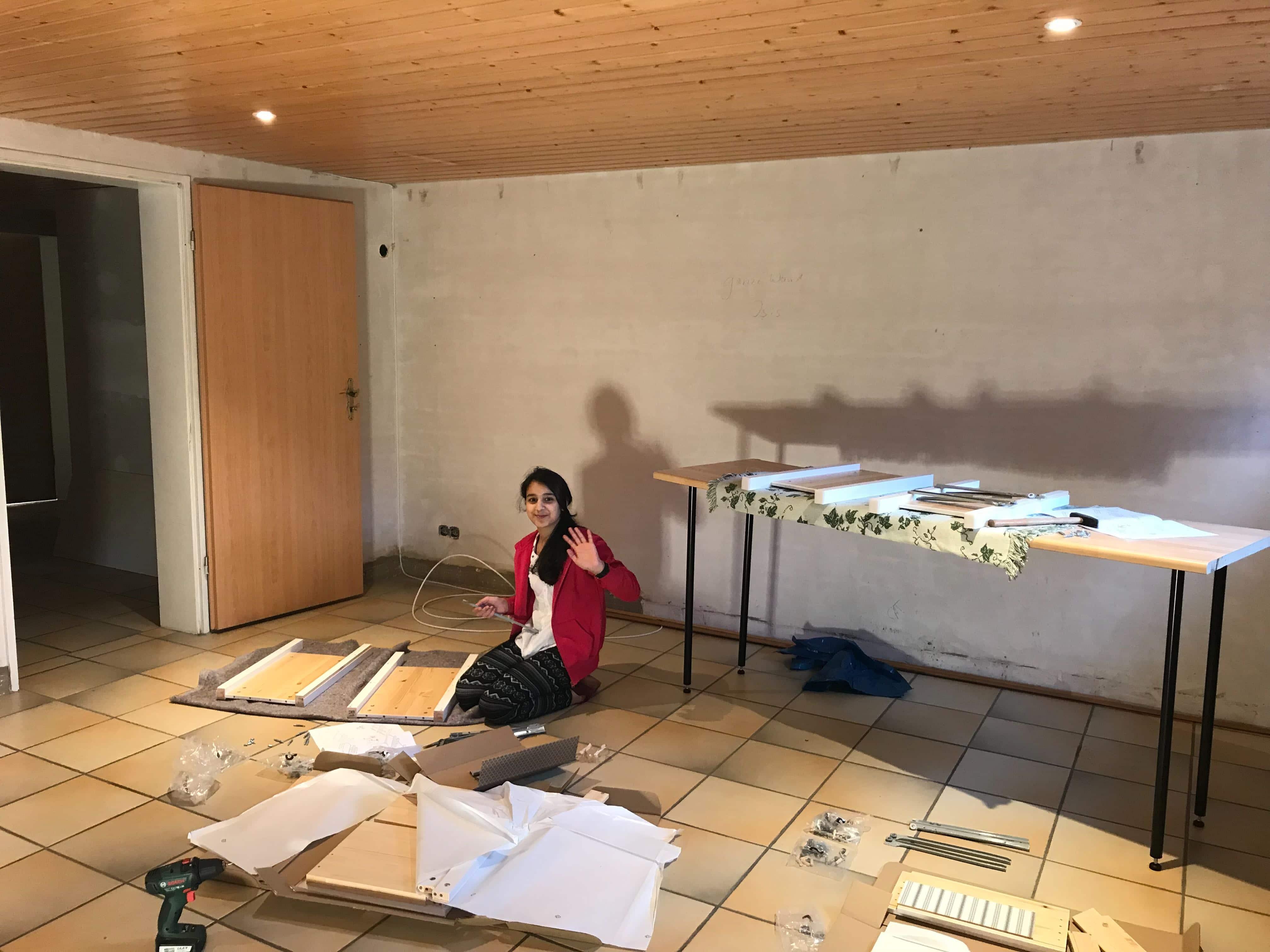 Bau der Möbel für die Ferienwohnung