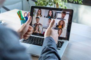 Virtuelles Teambuilding, Unternehmensaufbau, Kommunikation mit dem Team über Videocall
